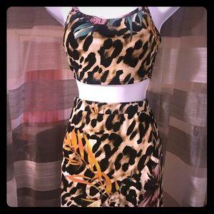 Brand New Crop Top/Matching Skirt